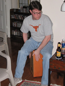Andy playing his Cajon
