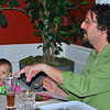 Dan and Lucy at the dinner table