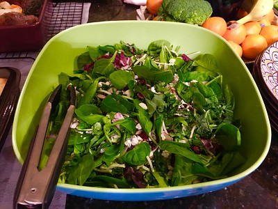 Fresh spinach salad.