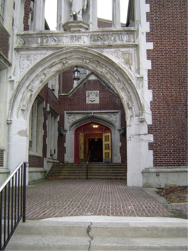 Entrance to the chapel of St. John's Lutheren Church on 5th St. in Allentowm.
