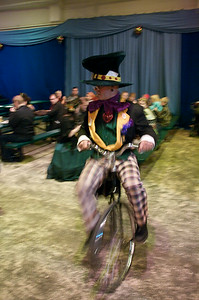 Mad hatter on a bicycle