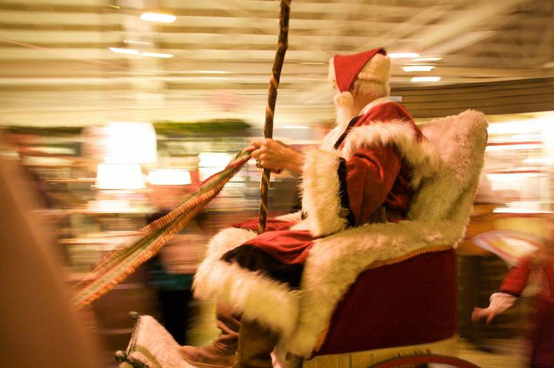 Santa Claus, preoccupied
