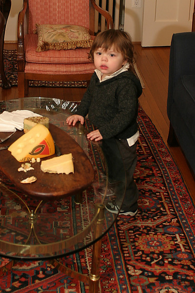 Cash at cheese table