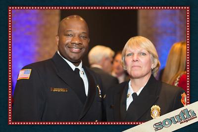 Asst. Fire Chief Cedric Scott and Battalion Chief Kelly McDaniel
