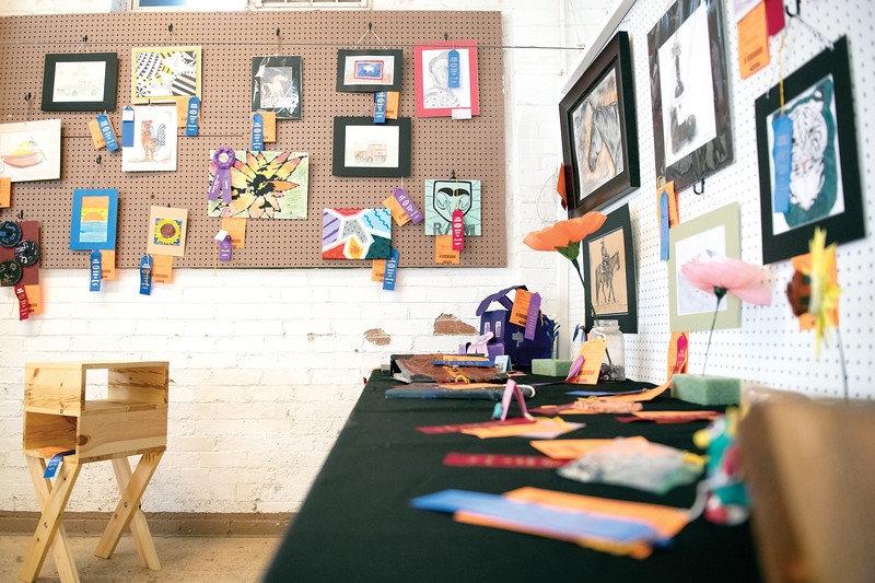 Matthew Gaston | The Sheridan Press<br>At this years 2019 Sheridan County Fair the visual arts category had a wide variety of art including portraits, still lifes, abstracts and sculptures Tuesday, July 30, 2019.