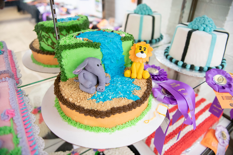 Matthew Gaston | The Sheridan Press<br>The cake decorating competition at the 2019 Sheridan County Fair was extremely competitive Tuesday, July 30, 2019.