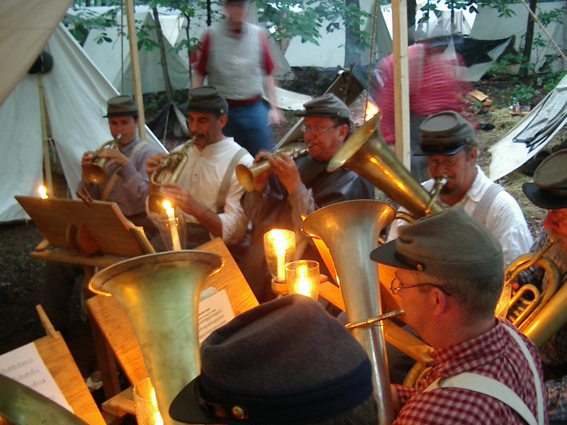 Evening Music-Making in Camp