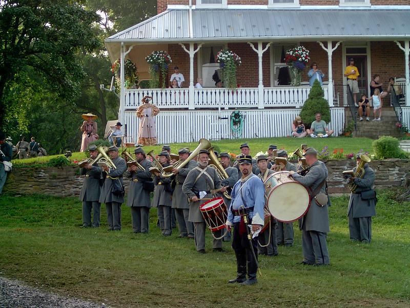 The band on the lawn