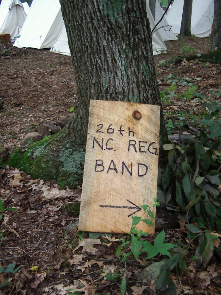 26th NC Band Sign