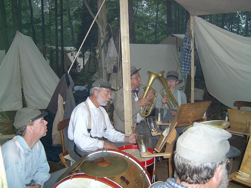 Garman Bowers on Snare Drum, Jari and Jr. on Altos