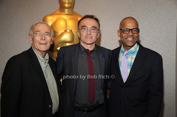 Bud Rosenthal, Danny Boyle, and Patrick Harrison  <br /> The Academy of Motion Picture Arts & Sciences presents a conversation with director Danny Boyle held at the Academy Theatre<br /> Arrivals<br /> New York City, USA- 04-04-13<br />  photo  by Rob Rich © 2013 robwayne1@aol.com 516-676-3939