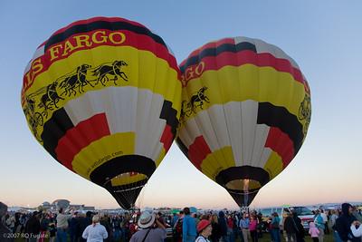 Wells Fargo Balloons prepare for national anthem launch
