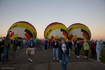 Wells Fargo Balloons prepare for national anthem launch