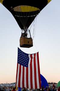 Launch with American flag