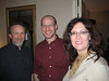 Michael Stackpole, Phil Plait, and me at party