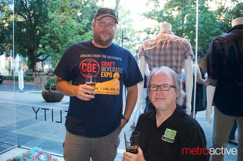 Santa Clara Valley Brewing's Steve Donohue and Tom Clark