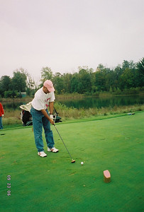 Note the pink tee off marker.  Gotta love the charity outings - everyone tees off from the ladies' marker.
