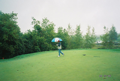 As if golfing sober wasn't hard enough, it was cold and raining.