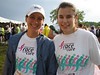 Liz and me at the Madison Race For The Cure.  Liz is the other Sponsorship Co-chair with me for Milwaukee's Race.  She is my strength, moral support, and a good kick in the butt when I need it.   She is also the ambitious (read CRAZY) one who threw out $200,000 as our 2007 goal and it stuck - keep your fingers crossed!