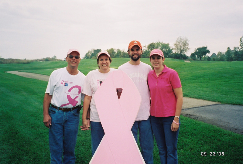 The Schnecks all in pink