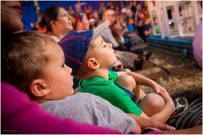 Jonah & Jared are mesmerized by the circus acts.
