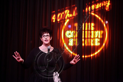 WEST HOLLYWOOD, CA - APRIL 21:  Comedienne Carrie Snow performs at The Comedy Store's 40th anniversary celebration at The Comedy Store on April 21, 2012 in West Hollywood, California.  (Photo by Chelsea Lauren/WireImage)