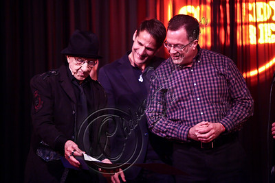 WEST HOLLYWOOD, CA - APRIL 21:  (L-R) Comedian / Comedy Store co-founder Sammy Shore, West Hollywood councilman John D'Amico and West Hollywood Mayor Jeff Prang attend The Comedy Store's 40th anniversary celebration at The Comedy Store on April 21, 2012 in West Hollywood, California.  (Photo by Chelsea Lauren/WireImage)