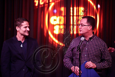 WEST HOLLYWOOD, CA - APRIL 21:  West Hollywood councilman John D'Amico (L) and West Hollywood Mayor Jeff Prang attend The Comedy Store's 40th anniversary celebration at The Comedy Store on April 21, 2012 in West Hollywood, California.  (Photo by Chelsea Lauren/WireImage)