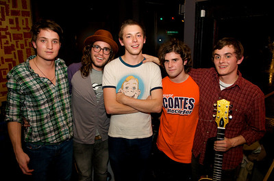 "Band members Jacob Merritt, Nate McClements, Isaaac Karns, Josh Kufeldt and Joey Cook are ""Pomegranates"""