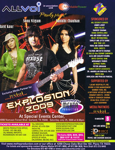 EXPLOSION 2009 FLYER PRINTED