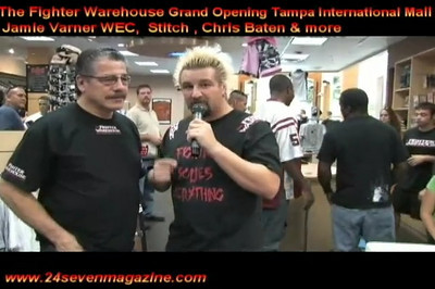 24/seven TV Host JohnXD Interviews  STITCH & Eddie THE HULK Hernandez at THE FOGHTER WAREHOUSE