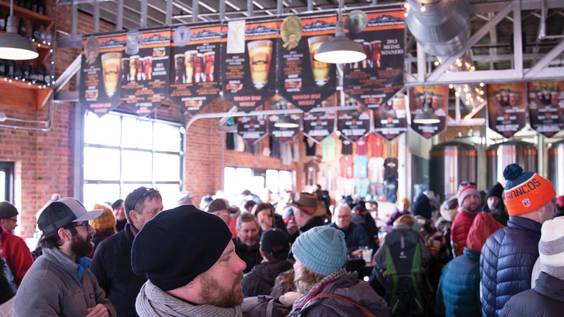 Matthew Gaston | The Sheridan Press<br>Sheridanites flocked to Black Tooth Brewing Company during the first-ever Sheridan WYO Winter Rodeo Saturday, Feb. 23, 2019.