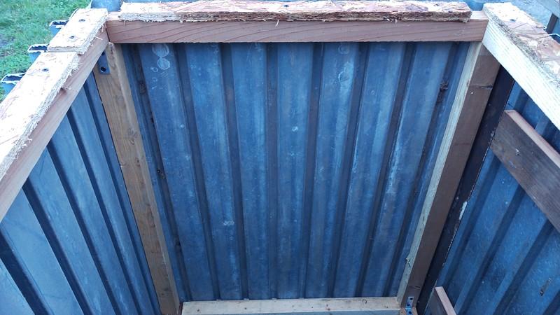 Wood 2x2's inside