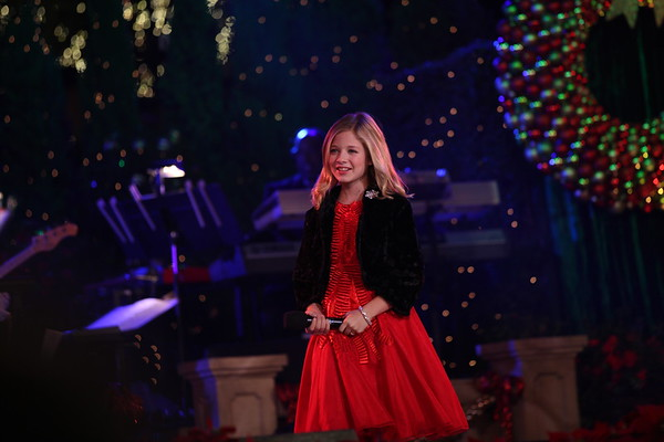 Jackie Evancho performs at The Grove's 2011 Christmas Tree Lighting Ceremony