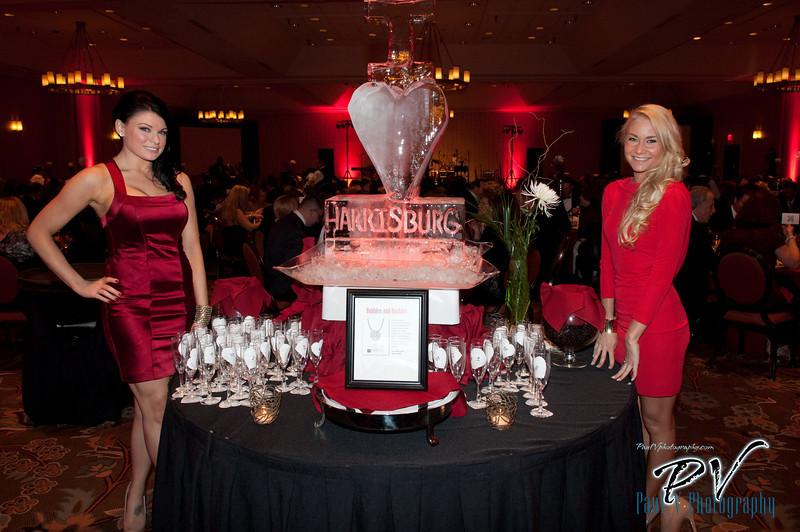 Amanda Marzella and Charissa Brown volunteers at the Heart Ball