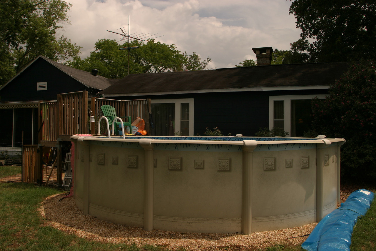 The Master bath sits over where the pool once was