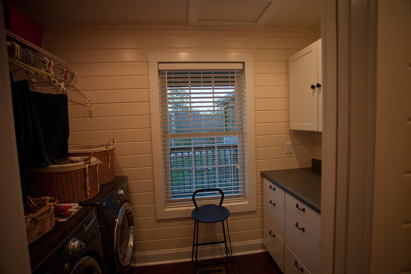Looking out the east window in the new laundry room, Cathy'office that connects to the master bath.