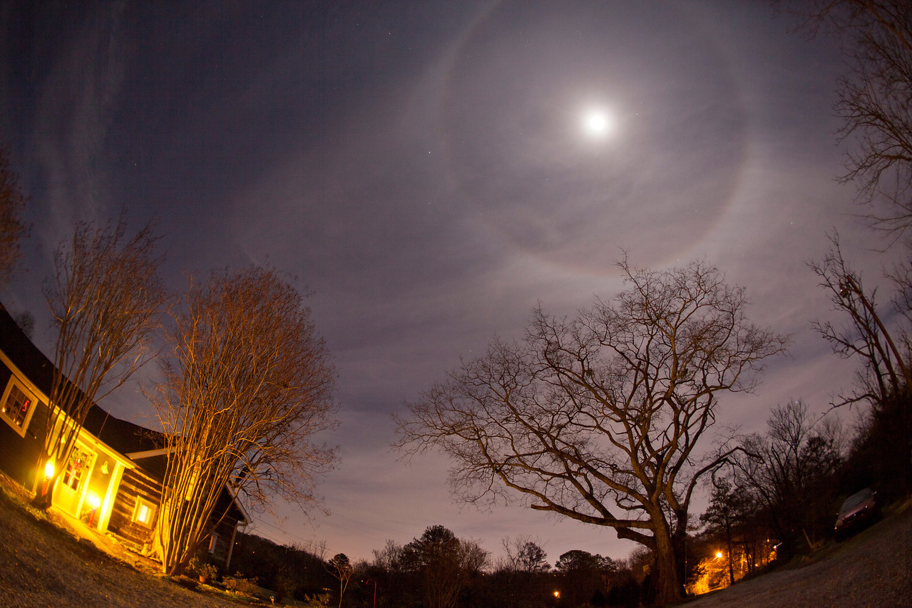 The December Moon and the changing weather to cold producing another great great picture.