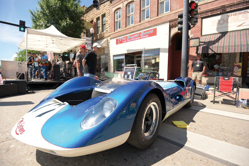 Matthew Gaston | The Sheridan Press<br>This sweet ride, a 1964 McLaren, was appropriately parked in front of The Sugar Boot during the Karz Rod Run Saturday, July 6, 2019.