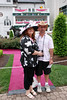 Jackie and Steve outside Churchill Downs on Kentucky Oaks 135 Day
