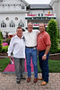 Nick, Pat and Malcolm outside Churchill Downs....Kentucky Oaks 135