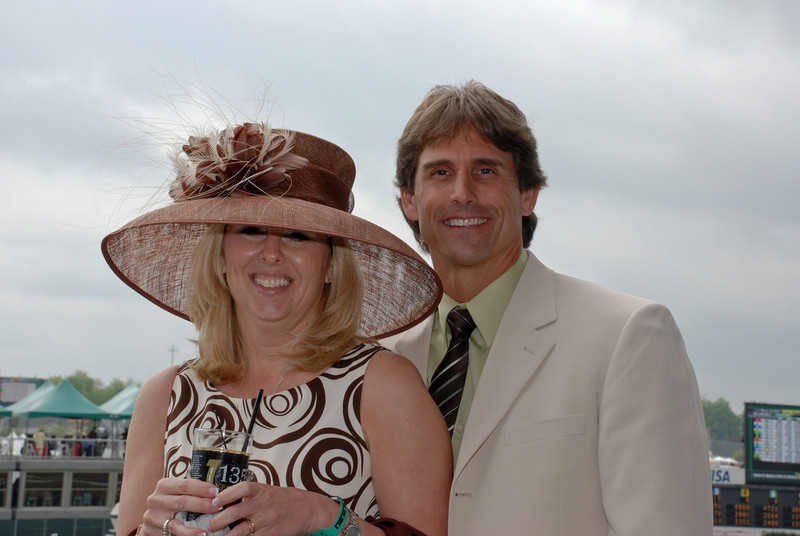 Chuck and Jenny at the Track