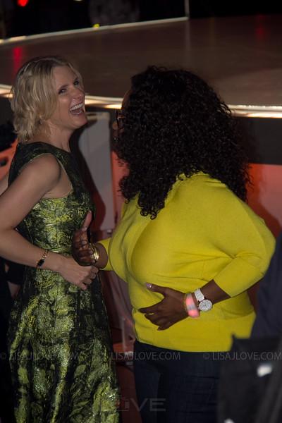 Elizabeth Gilbert and Oprah Winfrey enjoying soul cycle