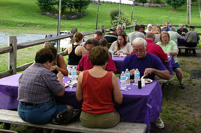 The annual MABA picnic at Joanna Furnace, Aug. 20, 2013.