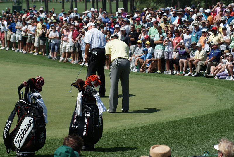 Tiger Woods, Augusta 2010, The Masters practice round
