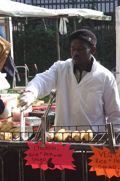 Barbecue chicken stall at The Mayor's Thames Festival 2008