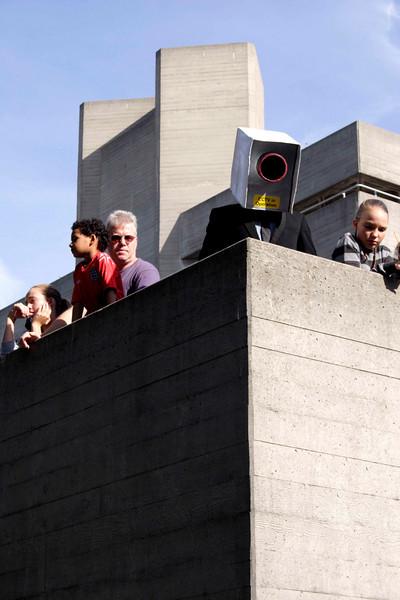 Street artist as a CCTV at The Mayor's Thames Festival 2008