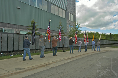 Flags of the USA. Only one missing is the 20 star flag. The Elks have not found one yet to put into the flag ceremony.