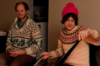 The Music Tapes, Julian Koster, at a New Jersey stop of their 2009 carolling tour. Photo by Andrew Barrack-www.greatheightsphoto.com