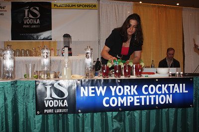"Download high quality free photographs in this gallery showing ""The New York Bar Show"" held in Javits Center in NYC on June 14 and 15. ISVodka was Platinum Sponsor for the 'The New York Cocktail Competition' on Monday June 15 at 1pm and gave out 3 prizes for 1st, 2nd and 3rd Place of $2000, $750 and $250."